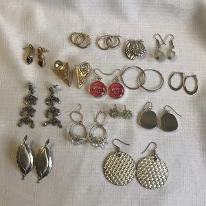 Jewelry - Lot of 15  Vintage Earrings Monet, Chico's etc